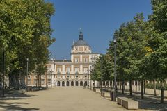 Royal Palace of Aranjuez in Madrid. A historic Royal Palace of Aranjuez in Madrid Spain Royalty Free Stock Image