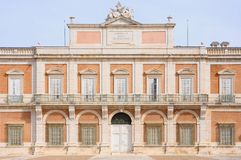 Royal Palace of Aranjuez, Madrid Spain. Front façade of the Royal Palace of Aranjuez in Madrid, Spain Stock Photos
