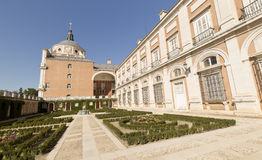 Royal Palace of Aranjuez. Madrid, Spain. Horizontal shoot Royalty Free Stock Photo