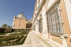 Royal Palace of Aranjuez. Madrid, Spain. Horizontal shoot Royalty Free Stock Image