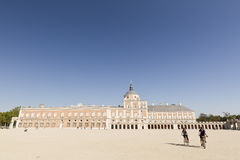 Royal Palace of Aranjuez, Madrid, Spain. Aranjuez, Madrid, Spain. October 9, 2016: Royal Palace of Aranjuez province of Madrid in Spain Royalty Free Stock Photography