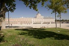Royal Palace of Aranjuez, Madrid, Spain. Aranjuez, Madrid, Spain. October 9, 2016: Royal Palace of Aranjuez province of Madrid in Spain Royalty Free Stock Photos