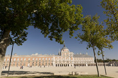 Royal Palace of Aranjuez. Aranjuez, Madrid, Spain. October 9, 2016: Royal Palace of Aranjuez province of Madrid in Spain Royalty Free Stock Photos