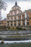 Royal Palace of Aranjuez, Madrid, Spain. Ornamental fountains of the Palace of Aranjuez, Madrid, Spain. ancient Stock Photo