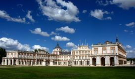 Royal Palace of Aranjuez, Madrid. View of the front of the Royal Palace of Aranjuez, Madrid Spain Royalty Free Stock Photography