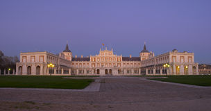 The Royal Palace of Aranjuez. Is one of the residences of the Spanish Royal Family, located in the town of Aranjuez (Madrid Royalty Free Stock Images