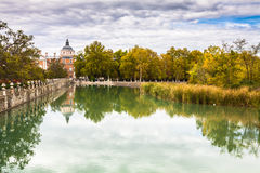 Royal Palace of Aranjuez, a residence of the King of Spain, Aran. Juez, Community of Madrid, Spain. UNESCO World Heritage Stock Image