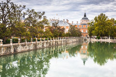 Royal Palace of Aranjuez, a residence of the King of Spain, Aran. Juez, Community of Madrid, Spain. UNESCO World Heritage Royalty Free Stock Image