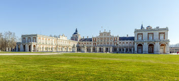 Royal Palace of Aranjuez is a residence of the King of Spain. Aranjuez , Spain - March 13 , 2016: View the Royal Palace of Aranjuez. The Royal Palace of Aranjuez Royalty Free Stock Photo