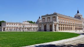 Royal Palace of Aranjuez on a sunny summer day. Spain. The famous Palace of Aranjuez seen from the side on a sunny summer day. Aranjuez, Spain Royalty Free Stock Images