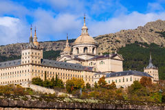 Royal Palace  in  autumn day.  Escorial Stock Photography