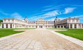Royal Palace av Aranjuez, Spanien Fotografering för Bildbyråer