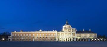 Royal Palace av Aranjuez (verkliga Palacio). Arkivbilder