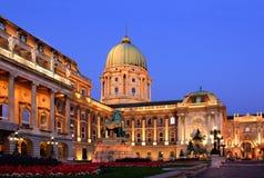 Royal Palace av Budapest, Ungern Royaltyfri Bild