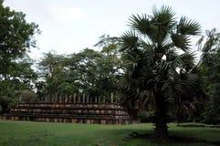 Royal Palace av konungen Parakramabahu i staden Polonnaruwa för världsarv Polonnaruwaen - medeltida huvudstad av Sri Lanka Fotografering för Bildbyråer