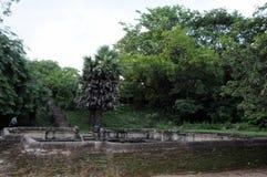 Royal Palace av konungen Parakramabahu i staden Polonnaruwa för världsarv Polonnaruwaen - medeltida huvudstad av Sri Lanka Arkivbilder