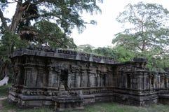 Royal Palace av konungen Parakramabahu i staden Polonnaruwa för världsarv Polonnaruwaen - medeltida huvudstad av Sri Lanka Royaltyfria Foton