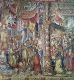 Royal Palace av La Granja de San Ildefonso i Segovia, Spanien Royaltyfria Bilder