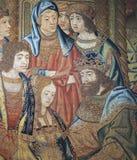 Royal Palace av La Granja de San Ildefonso i Segovia, Spanien Royaltyfri Fotografi