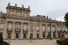 Royal Palace av La Granja de San Ildefonso, Segovia, Spanien Arkivfoto