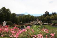 Royal Palace av La Granja de San Ildefonso, Segovia, Spanien Royaltyfria Bilder