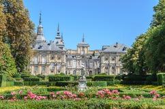 Royal Palace av La Granja de San Ildefonso, Spanien Royaltyfri Foto