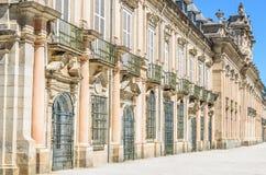 Royal Palace av La Granja de San Ildefonso, Spanien Arkivbilder