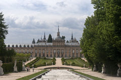 Royal Palace av La Granja de San Ildefonso, Spanien Royaltyfria Foton