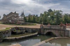 Royal Palace av La Granja de San Ildefonso, Spanien Fotografering för Bildbyråer