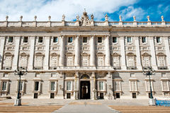 Royal Palace av Madrid Royaltyfria Bilder