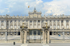 Royal Palace av Madrid, Spanien Royaltyfri Fotografi