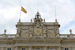 Royal Palace av Madrid, Spanien Royaltyfri Foto