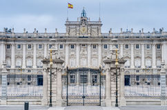 Royal Palace av Madrid, Spanien. Arkivbild