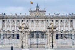 Royal Palace av Madrid, Spanien. Arkivbild