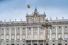Royal Palace av Madrid, Spanien. Royaltyfri Foto
