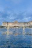 Royal Palace av Madrid, Spanien Arkivfoto