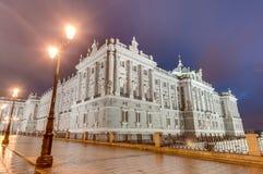 Royal Palace av Madrid, Spanien Royaltyfri Foto