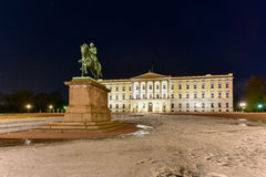 Royal Palace av Oslo Arkivbilder