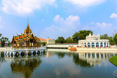 The Royal Palace of Bang Pa-In in Ayutthaya, Thailand Royalty Free Stock Photography
