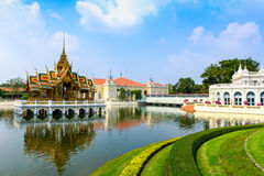 The Royal Palace of Bang Pa-In in Ayutthaya, Thailand Royalty Free Stock Photo