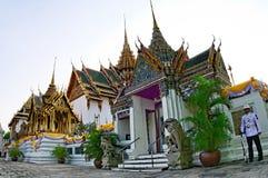 Royal Palace, Bangkok. Guard at gate at the National Royal Palace in Bangkok, Thailand stock photography
