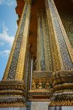 Royal Palace Bangkok, esterno Vista da sotto immagini stock libere da diritti