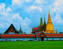 ROYAL PALACE 1. Bangkok Royal Palace is one of the most important and beautiful for people of Bangkok and for all  the tourists come to visit Thailand and Royalty Free Stock Photo