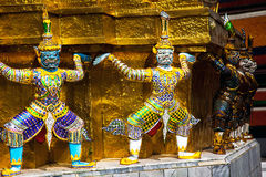 In the Royal Palace of Bangkok. Temple guardian in the Royal Palace of Bangkok Thailand Royalty Free Stock Photography