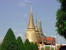 The royal palace in Bankok. The golden spiers of the Kings palace in Bangkok, Thailand Royalty Free Stock Image