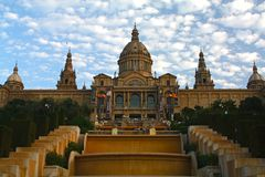 Royal palace in Barcelona, Montjuic Royalty Free Stock Image