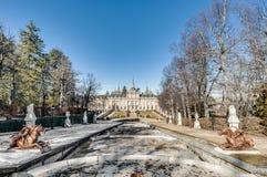 Royal Palace bei San Ildefonso, Spanien Stockfotografie