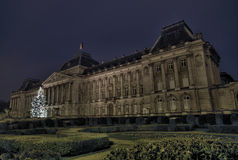 The Royal Palace of Belgium. Is one of the most beautiful official buildings in the capital, Brussels Royalty Free Stock Photo