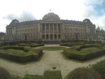 Royal palace of Belgium. View of the royal palace in Brussels, Belgium, showing the garden in front of the palace too Stock Image