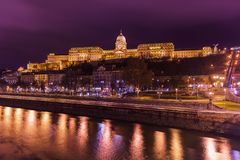Royal Palace in Boedapest Hongarije stock foto